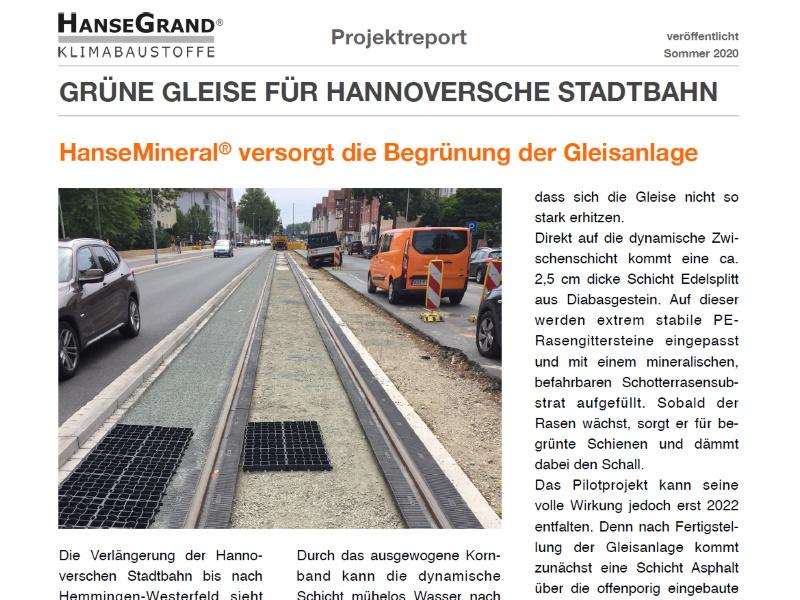 Grüne Gleise mit HanseMineral