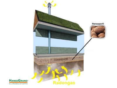 Blähtonschicht unter dem Boden gegen Radon