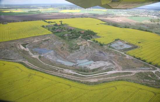 Tagebau aus Lagerstätte Friedland