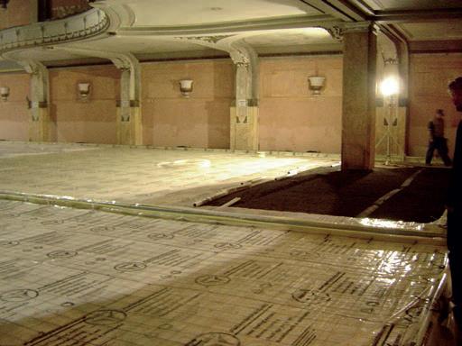 Thermoboden mit Fußbodenheizung